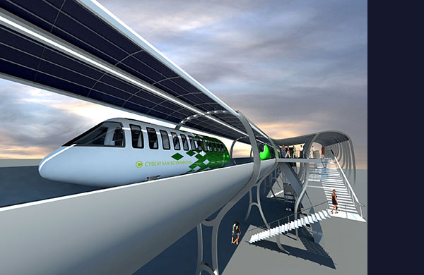 CyberTran International - Ultralight Rail Technology for freight and people. A transportation internet running on solar power.