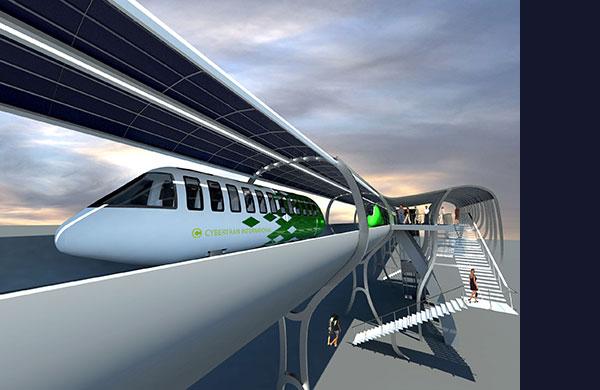 CyberTran International - Ultralight Rail Technology for freight and people. A transportation internet running on solar power.